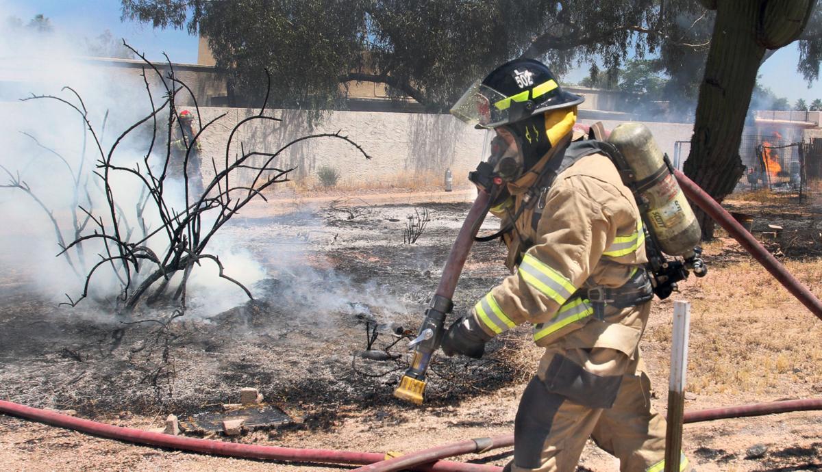 Back yard fire