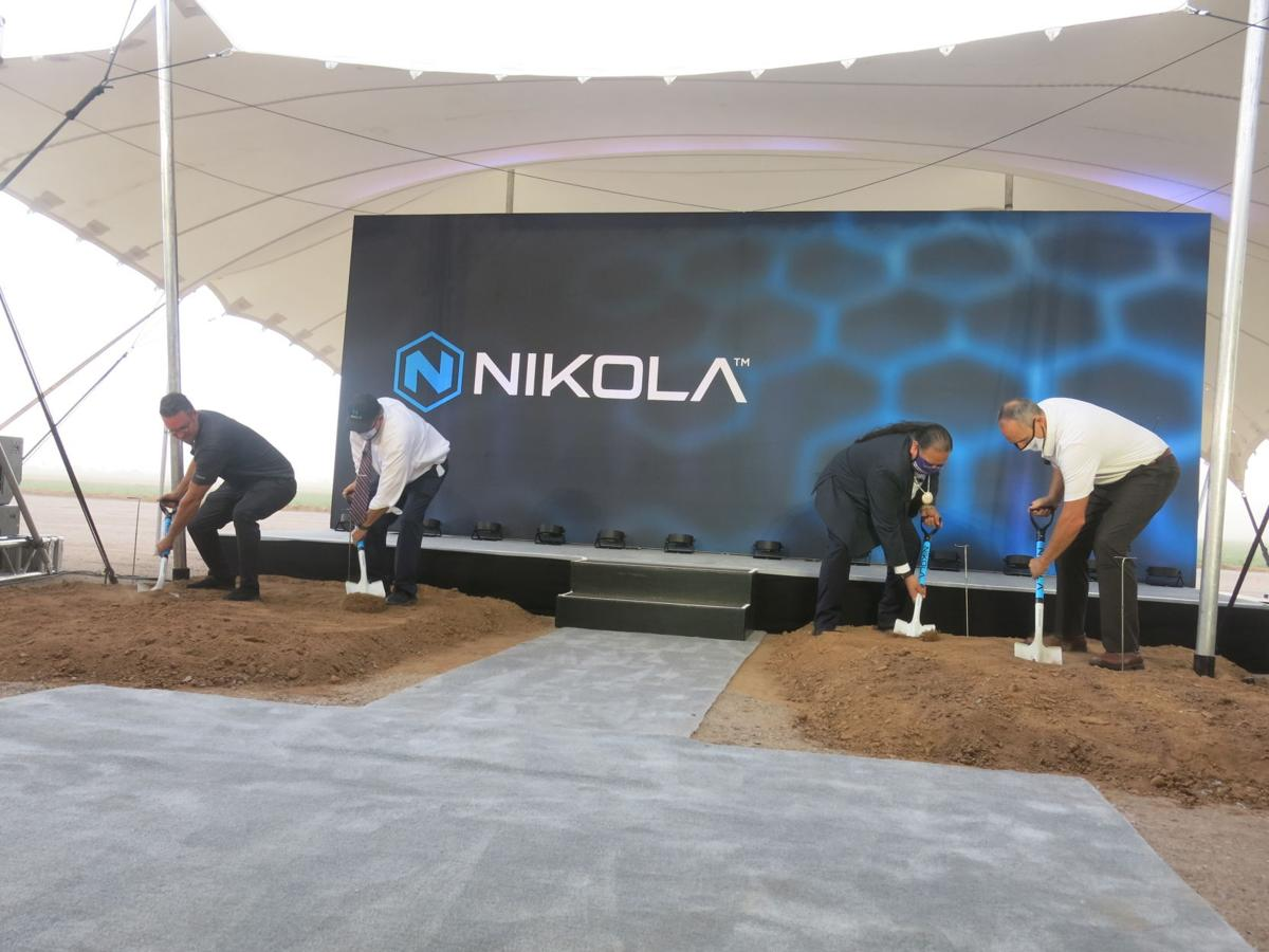 Groundbreaking at Nikola Corp. plant