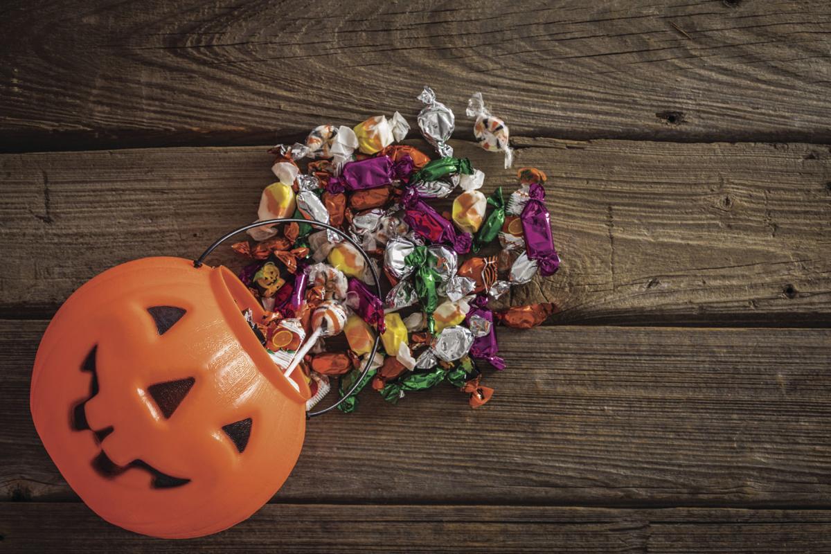 Halloween candy logo