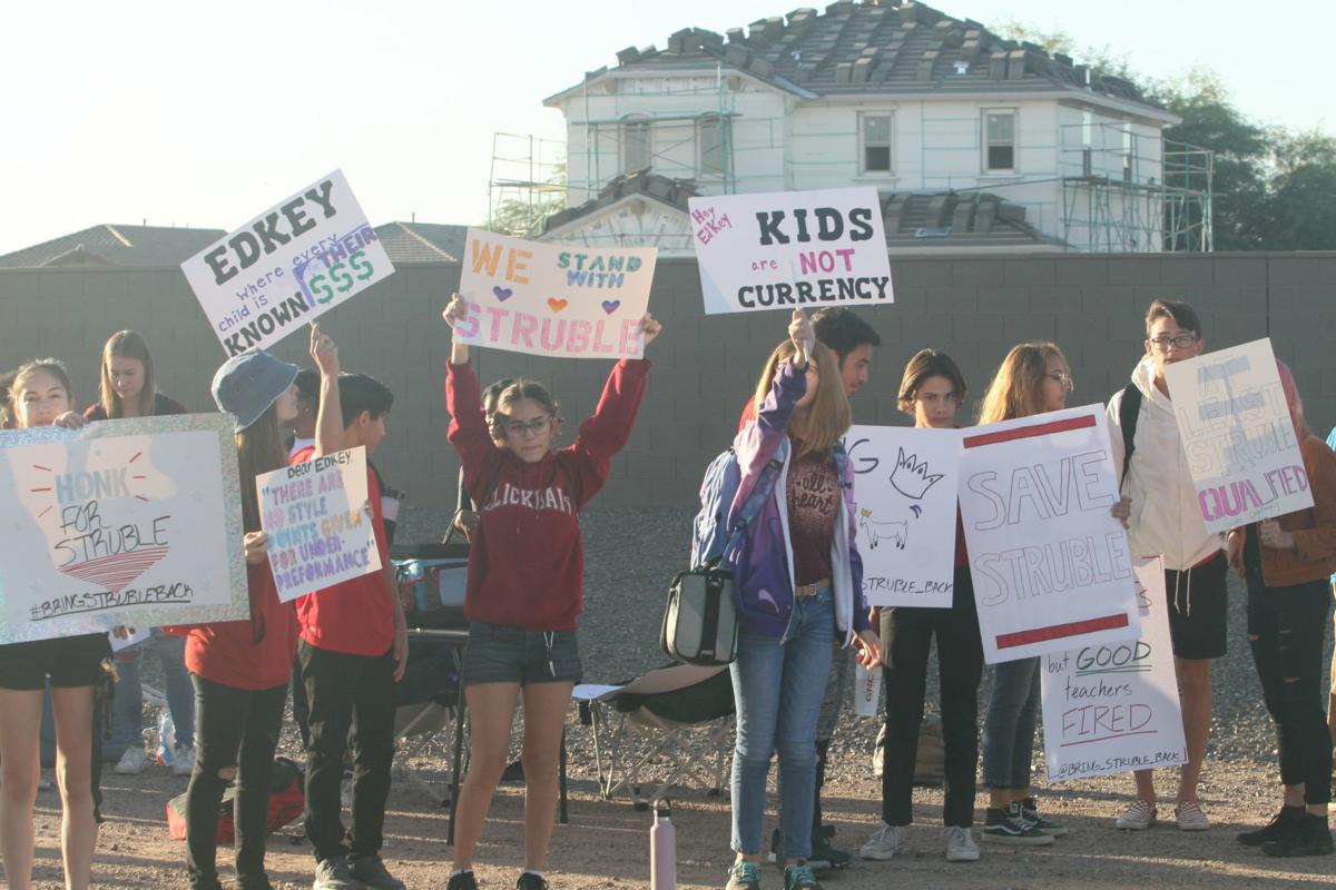 Sequoia Pathway students protest abrupt firing of math teacher