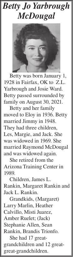 Betty Jo Yarbrough McDougal