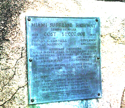 Highway Plaque