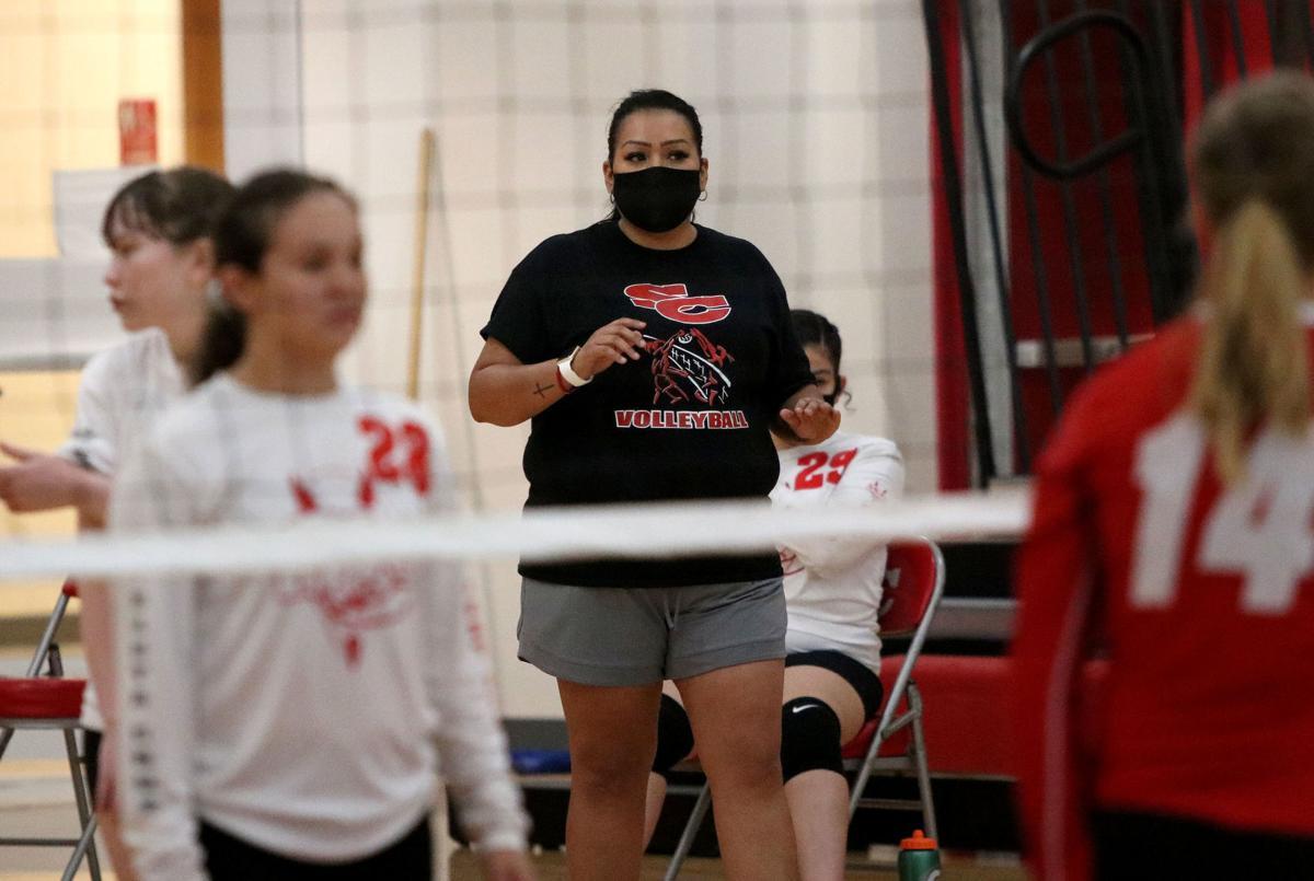 SC volleyball coach Lety Tarango
