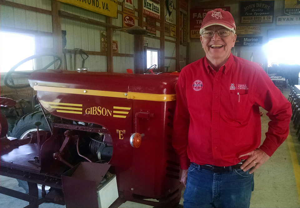 Rick Gibson with tractor
