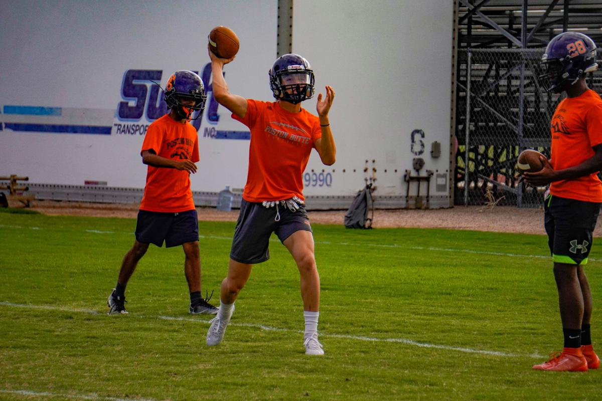 Poston Butte football practice