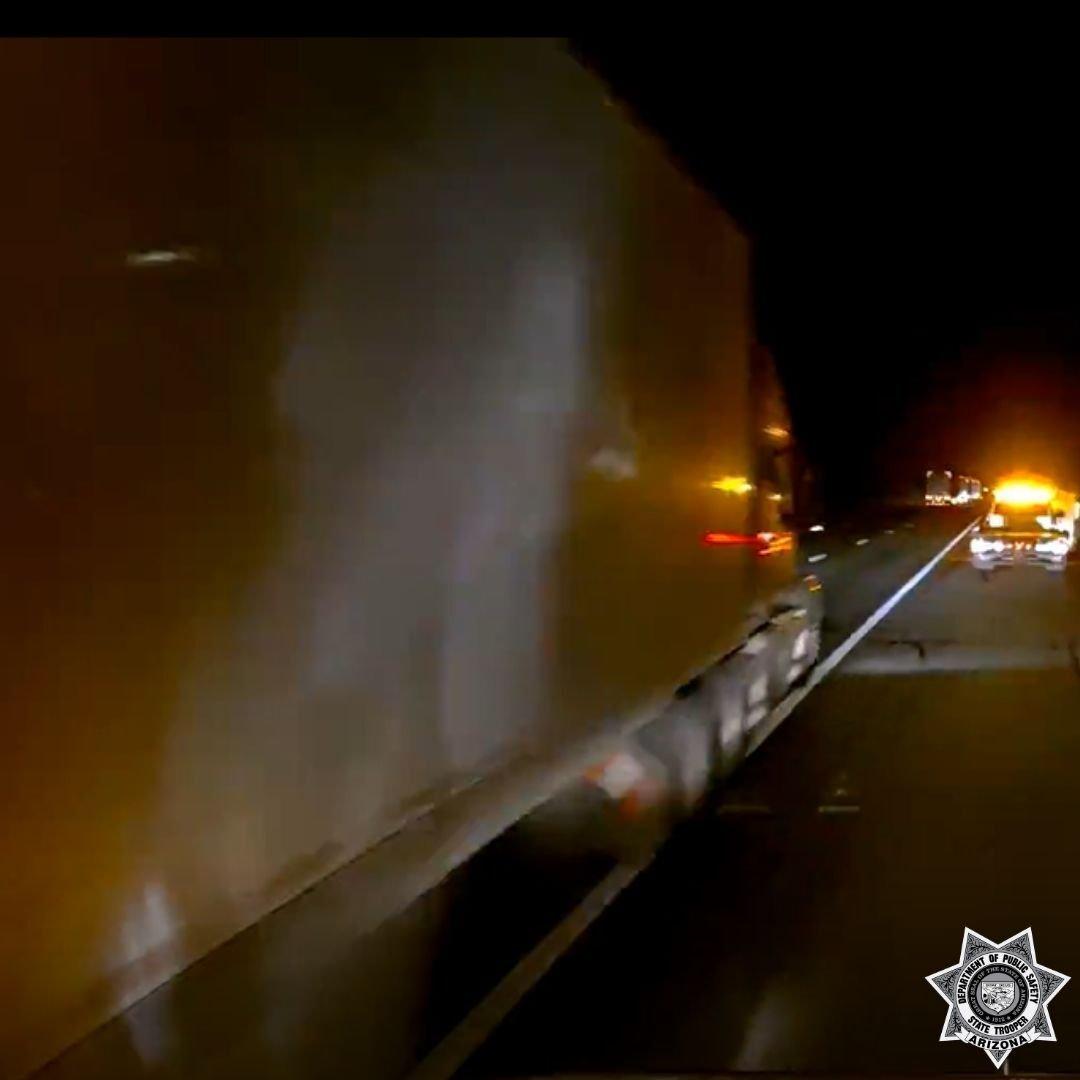 Semi truck I-10 hit and run