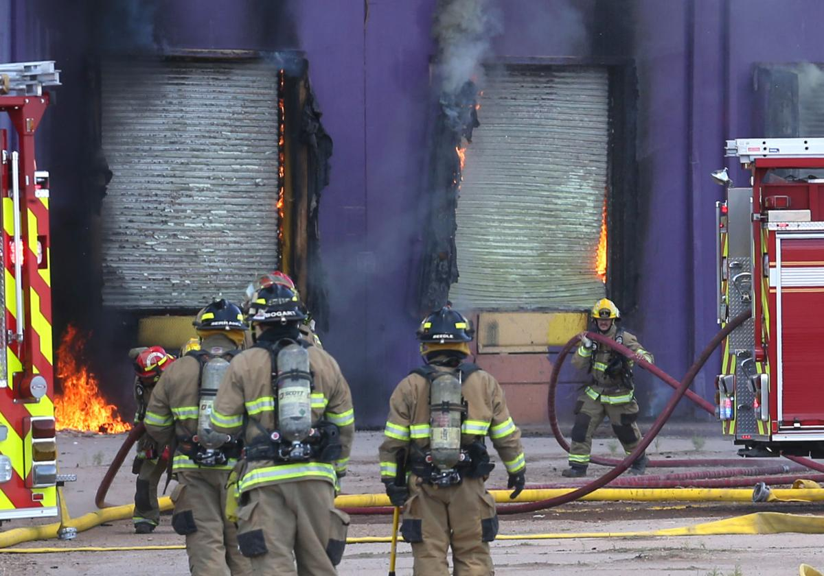 Warehouse fire