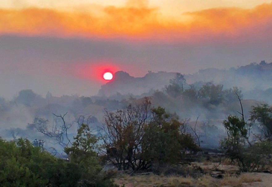 Telegraph Fire Sunset