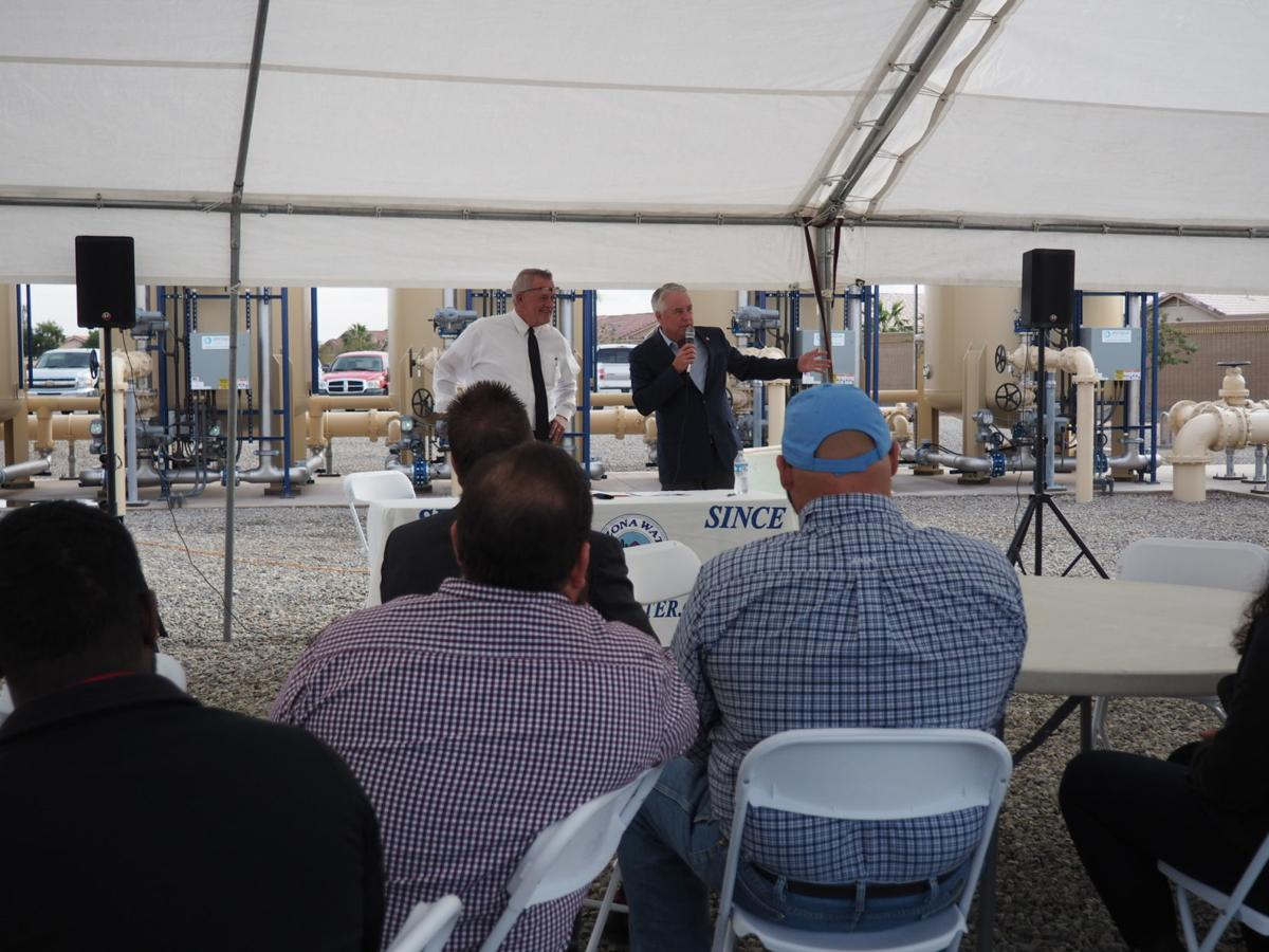 Ribbon cutting ceremony at Santiago Trail water plant
