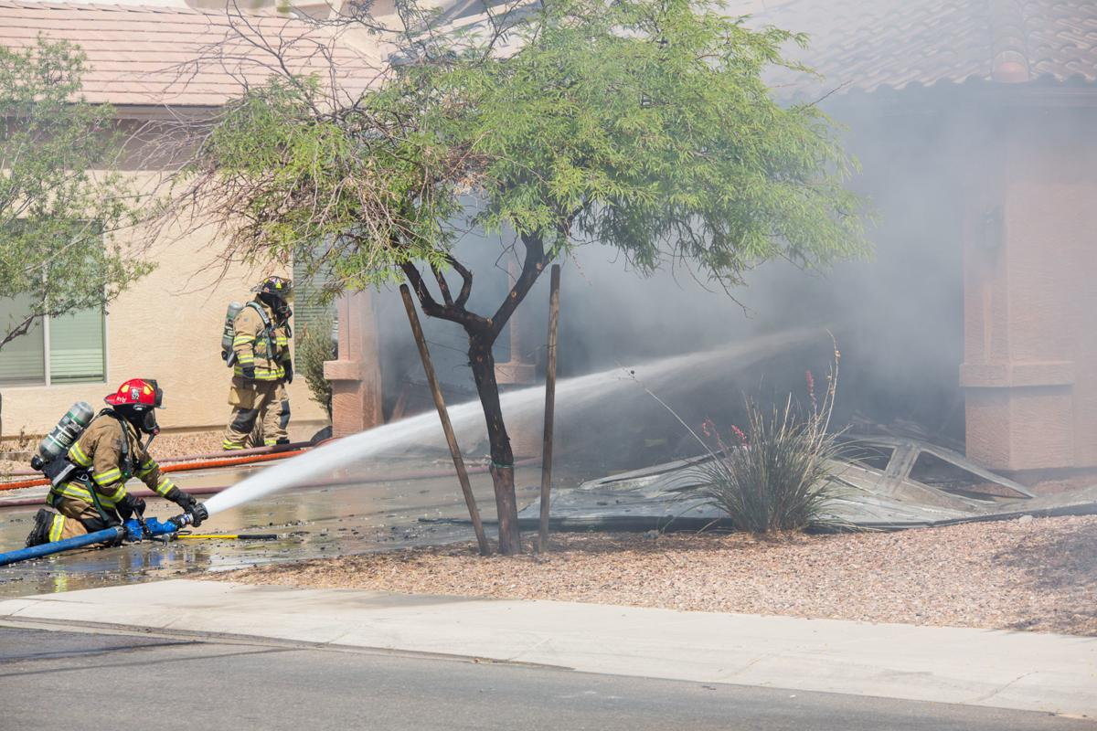 garage fire breaks out at maricopa home news