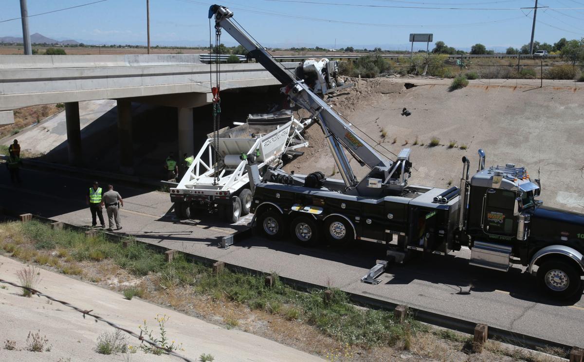Truck driver dies as rig crashes into I-8 bridge in Casa
