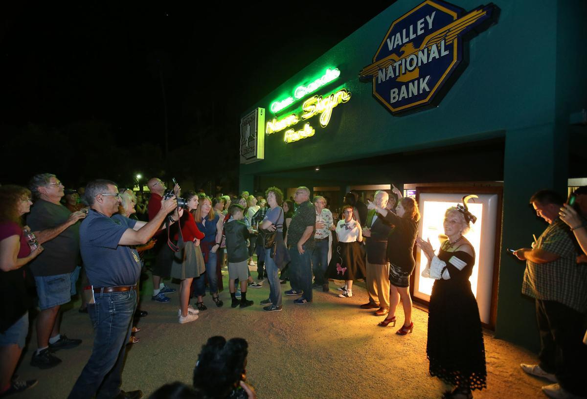 Neon Sign Park lighting ceremony