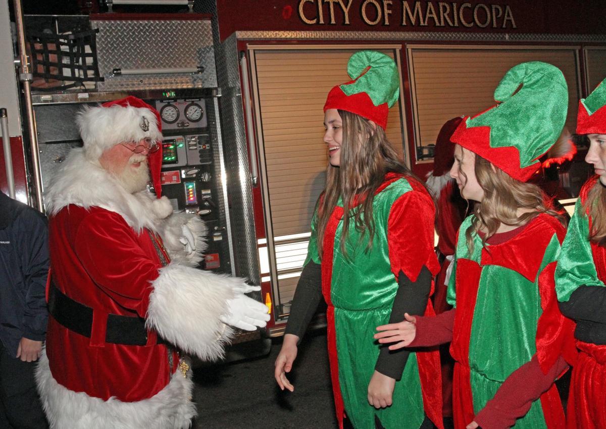 Santa arrives in Maricopa