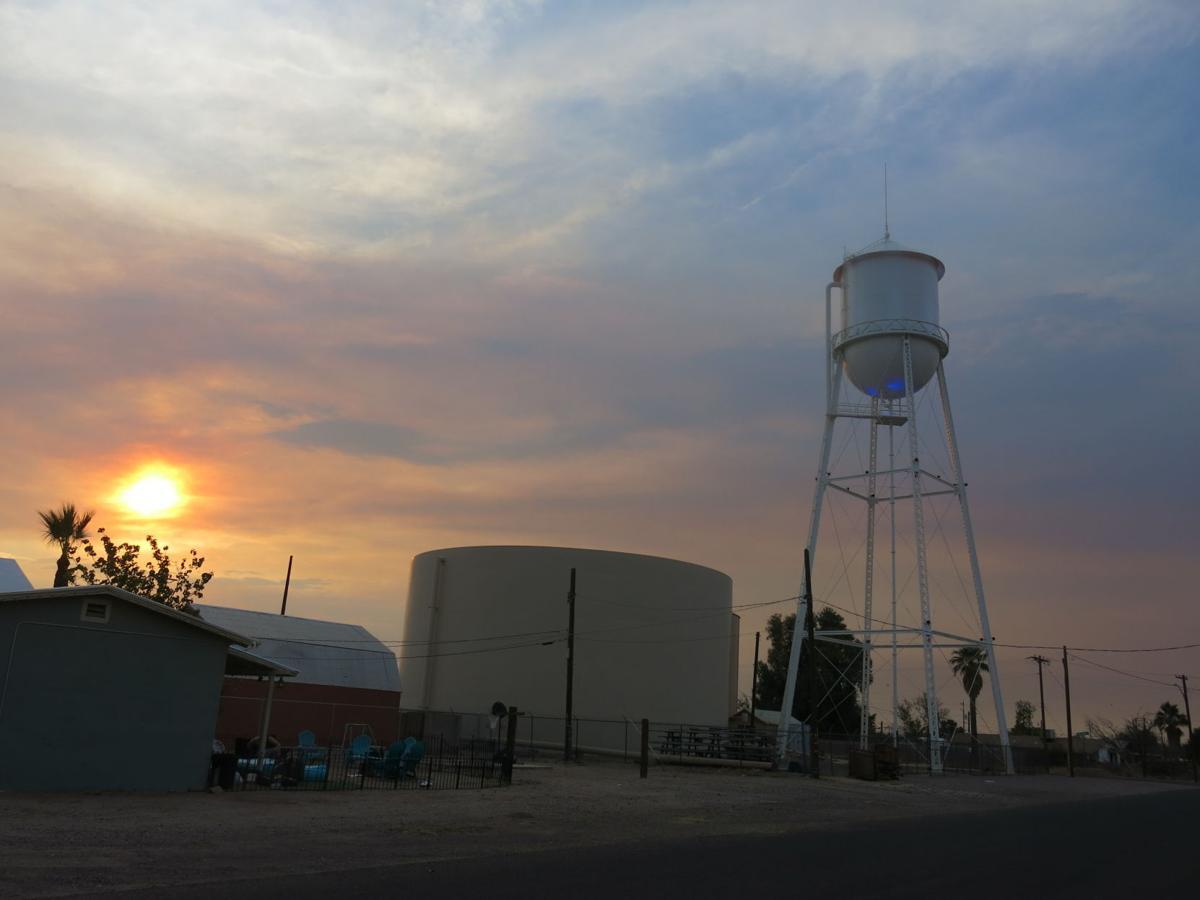 Water Tower Telegraph Fire Haze