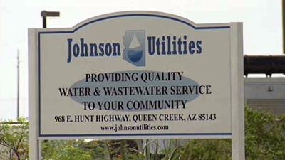 Johnson Utilities sign