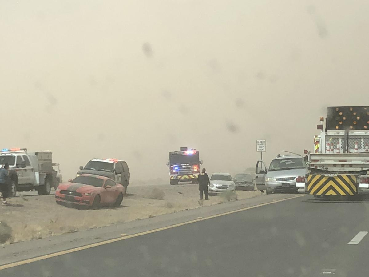 Blowing dust on SR 347 causes 2 accidents | News | pinalcentral.com