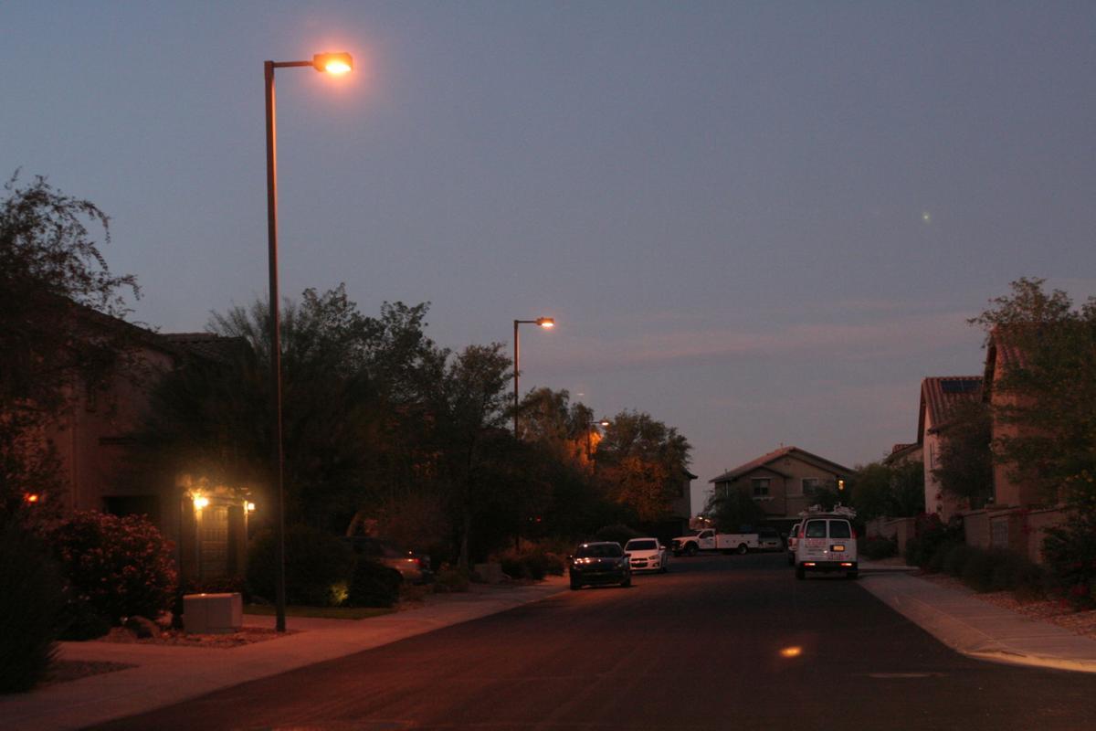 Well-lit neighborhood