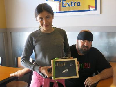 Nick Tsalikis and daughter