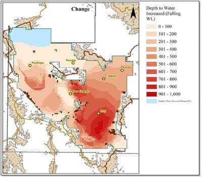 Groundwater drawdown model