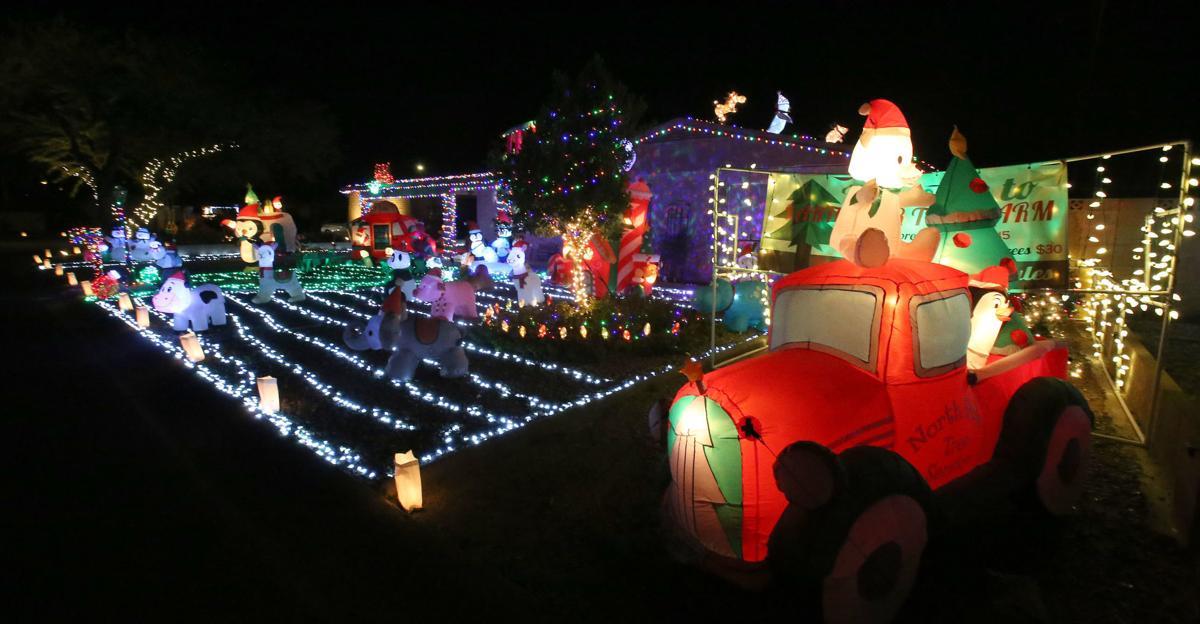 Christmas lights New Year's Eve