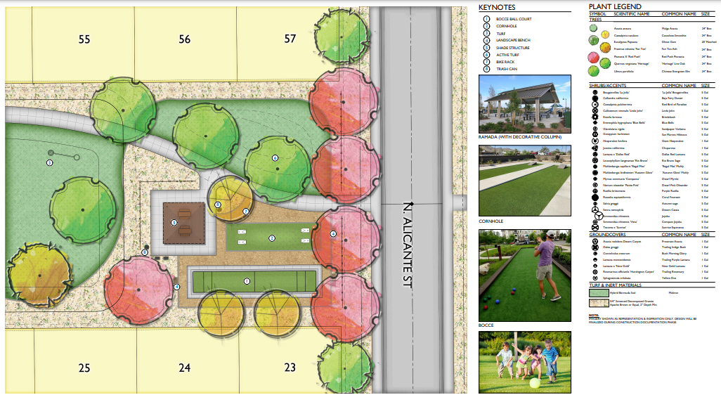 Details in the subdivision layout
