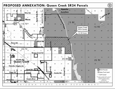 Queen Creek agrees to annex 4,140 acres of state land in Pinal