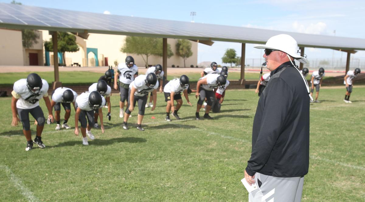 Vista Grande football practice