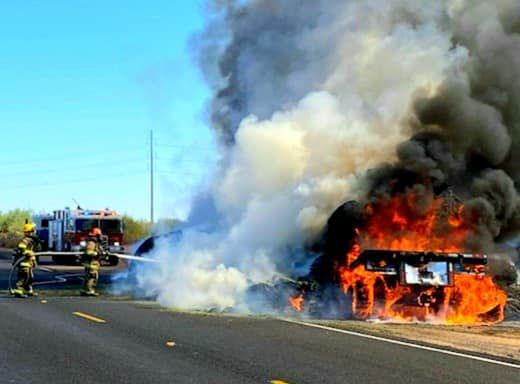 Sunland Gin Road hay fire