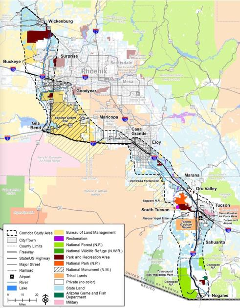 Interstate 11 Corridor Map Pinalcentral