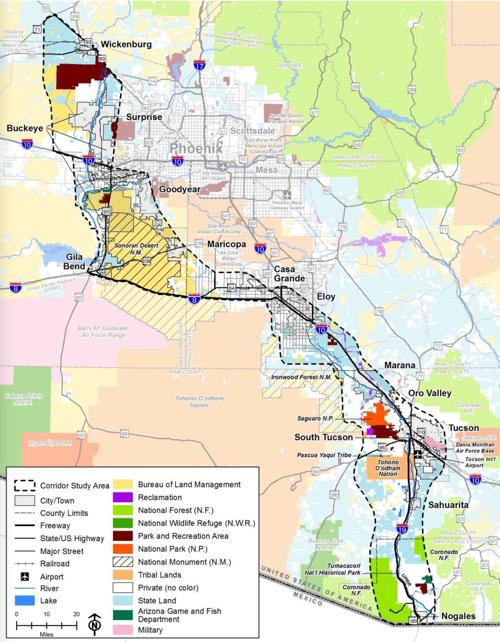 Interstate 11 corridor map | | pinalcentral com