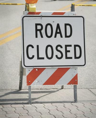 Road closed logo