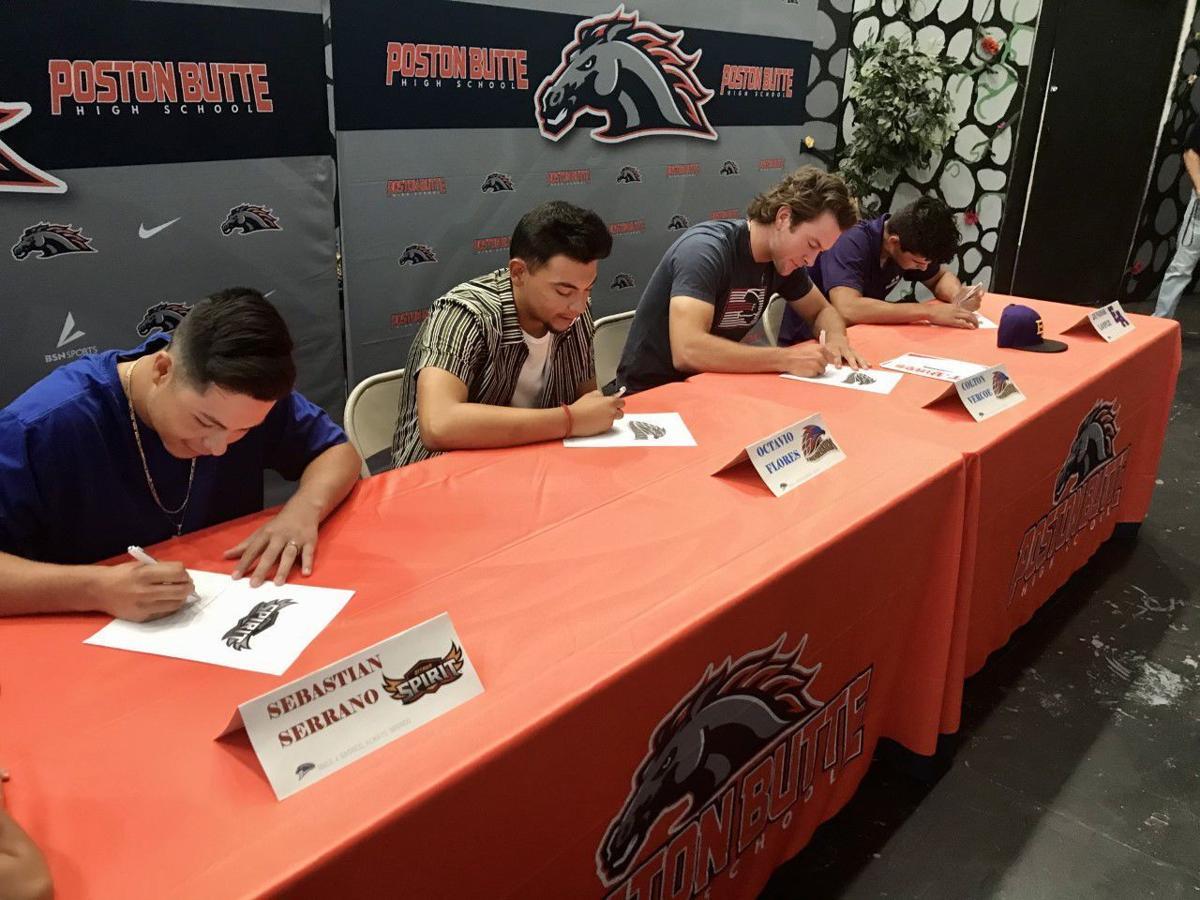 Poston Butte baseball signing