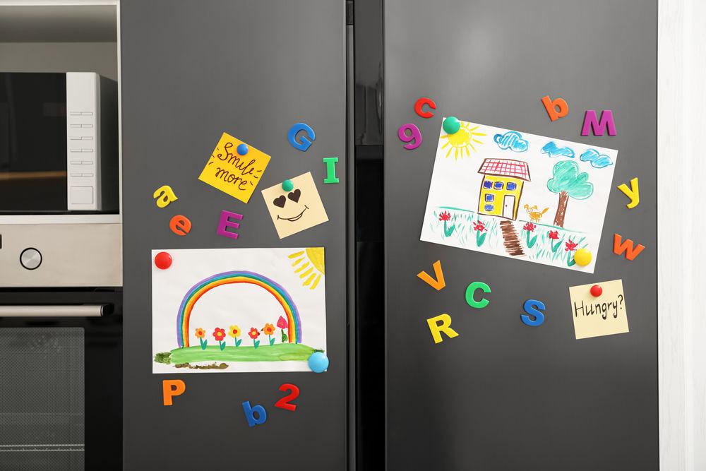 Art on fridge