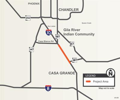 I-10 project map