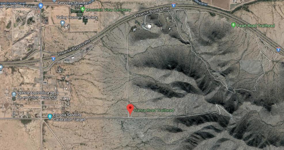 Casa Grande Mountain map