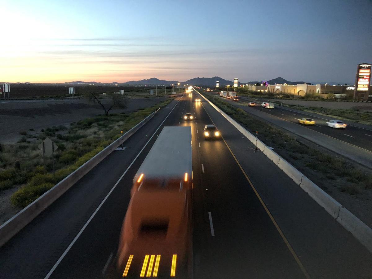 I-10 at dusk