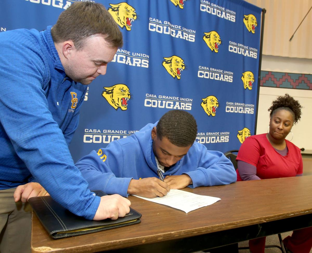 Football signing day CGUHS