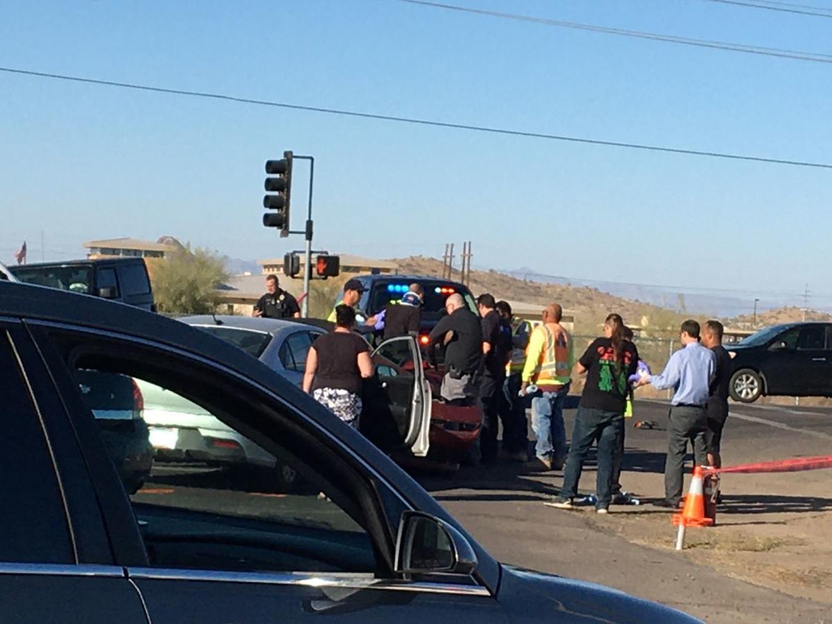 Three vehicle accident
