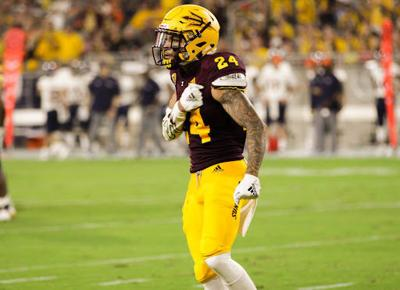 74afc9b03fa73 Chase Lucas pumps his chest in the Sun Devils  season-opening win over  Texas-San Antonio. ASU will look to get back to its winning ways against  Washington ...