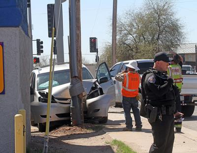Car meets power pole in Maricopa | News | pinalcentral com