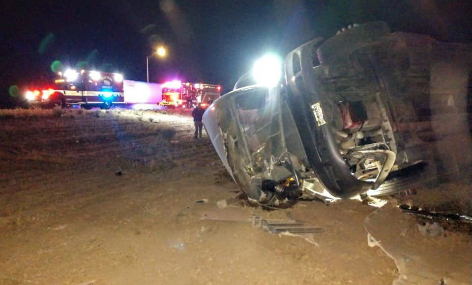 Eloy semi-truck rollover on I-10
