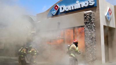 Domino's fire