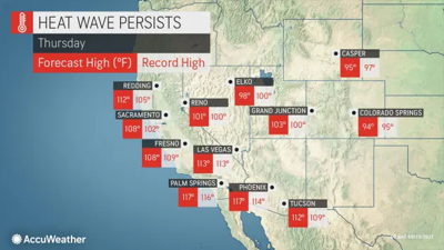 America Gets a Taste of Hell: Death Valley to come within 10 degrees of all-time world record high temp! Developing…