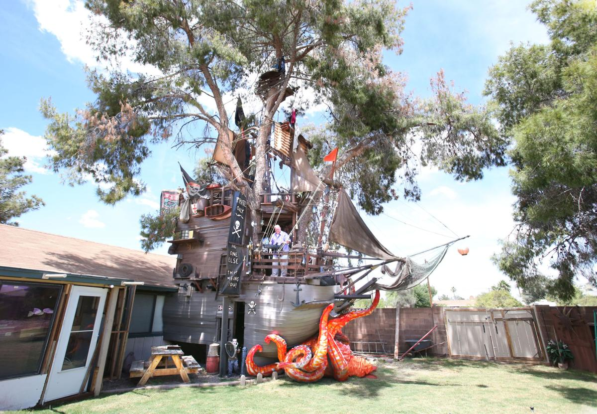 pirate ship treehouse featured pinalcentral com