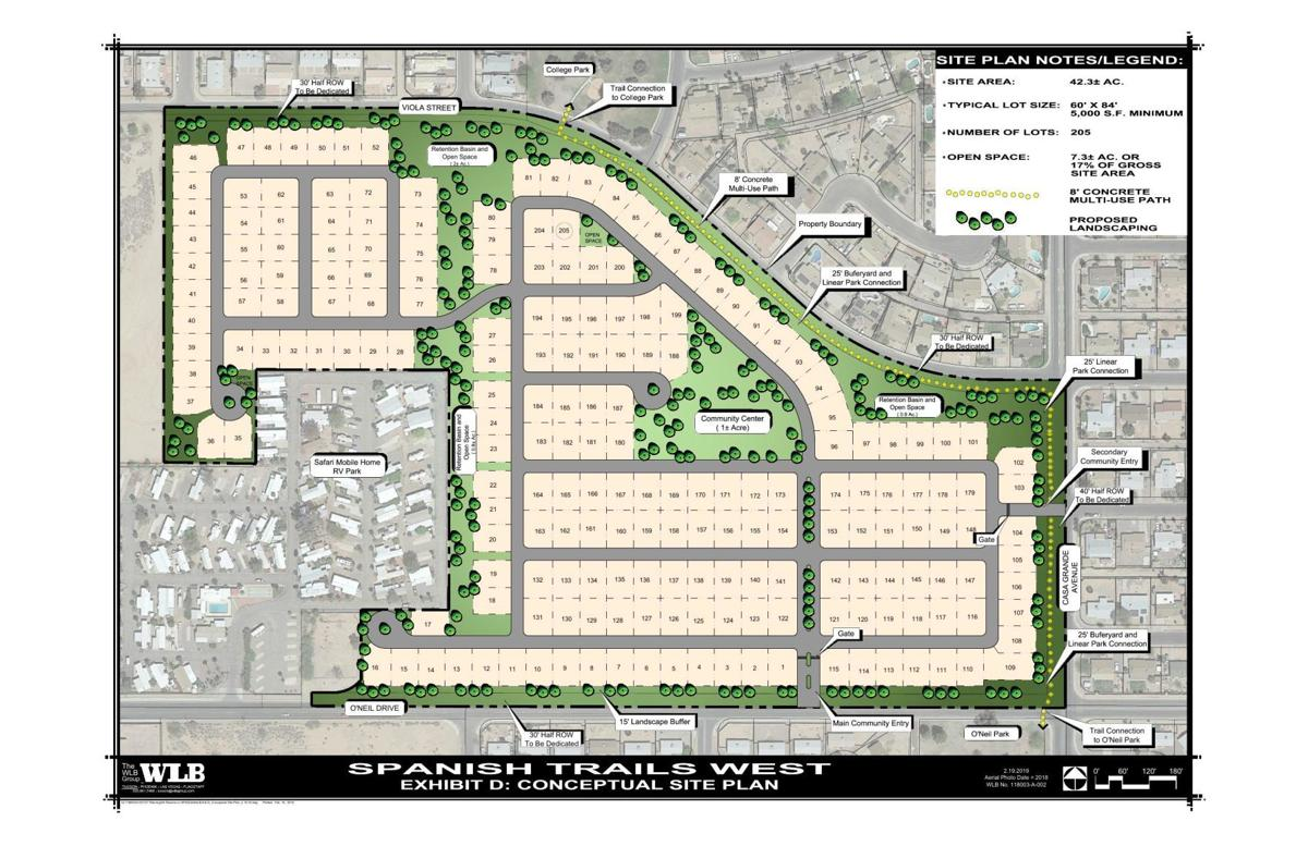 Proposed 205-space mobile home park