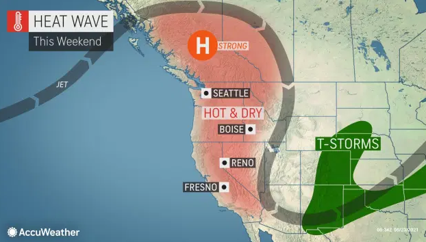 Dangerous heat wave looming for Pacific Northwest