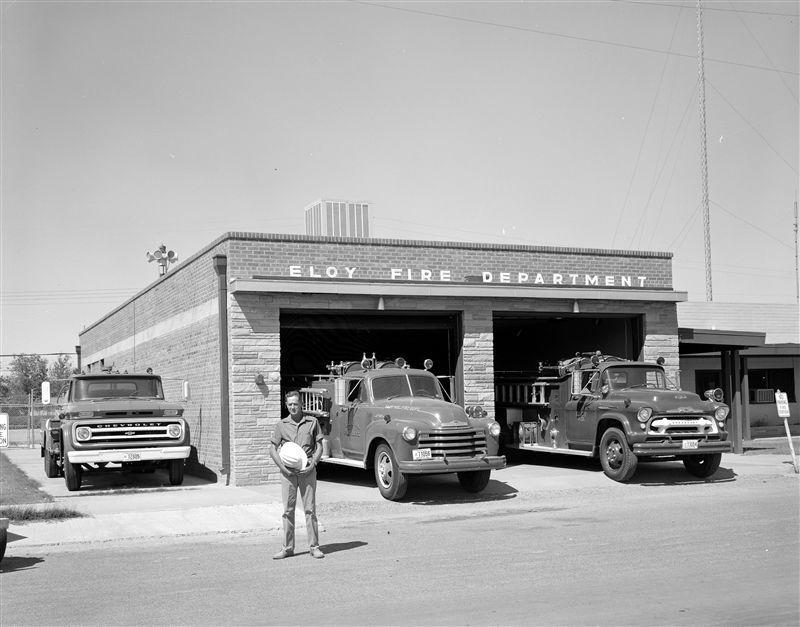 Eloy Fire Trucks Circa 1955-56.jpg