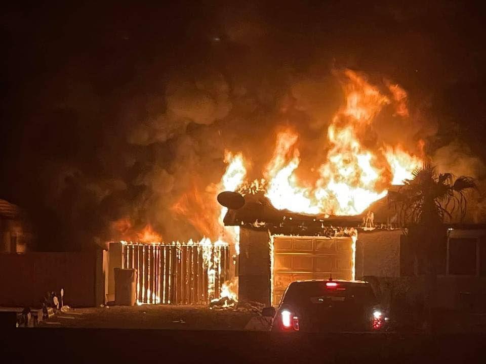 Arizona City Concordia Drive fire