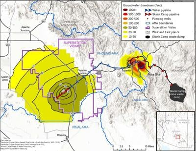 Water Use Map Resolution Copper Mine Oct 2021