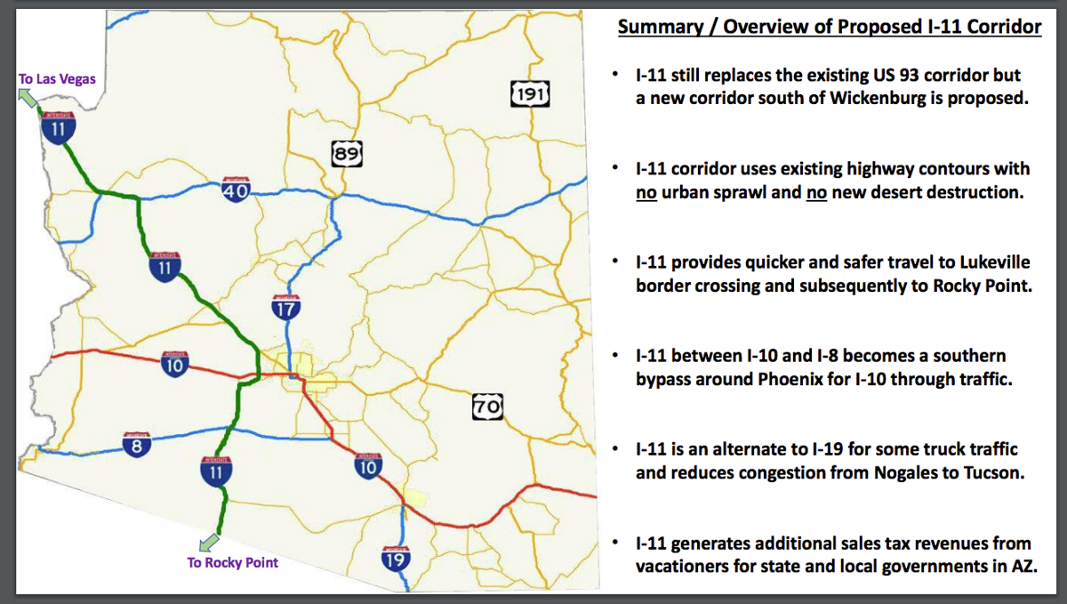Map Of Loop 303 Arizona.Cac Professor Has Interstate 11 Alternative Area News